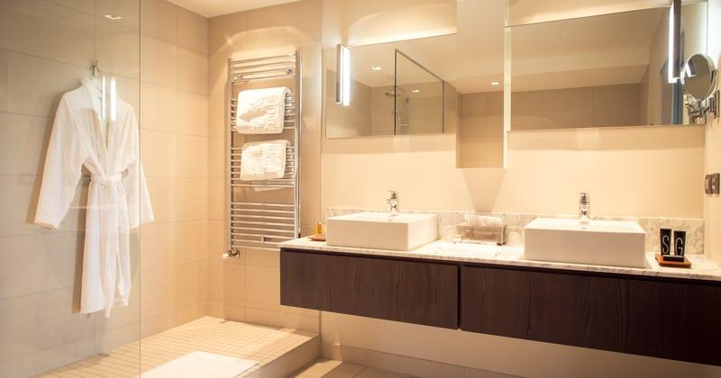 L'Assiette Champenoise - Salle de bains - Crédit photo Gérald Malaisé