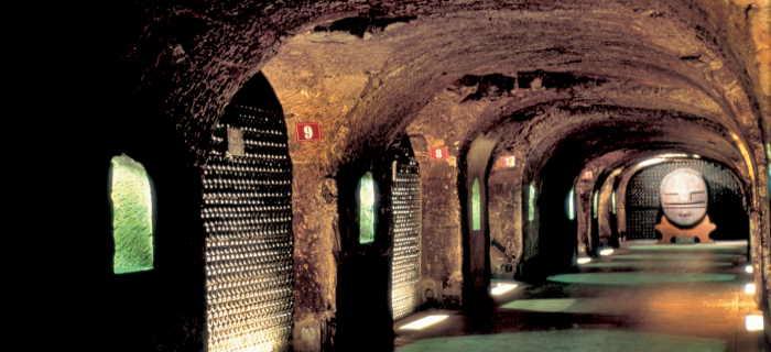 Cellar view on Champagne Tour at Moet and Chandon Cellars- A Achmann