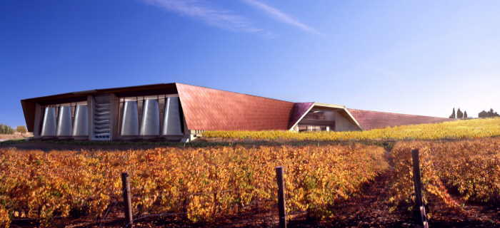 Portia winery designed by Norman Foster