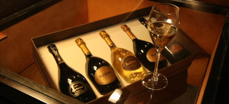 Exclusive Champagne tour - Ruinart bottles