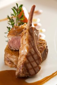 Product launch ideas m-campets-specially-selected-lamb-with-a-citrus-crumb-grilled-chop-and-roast-saddle
